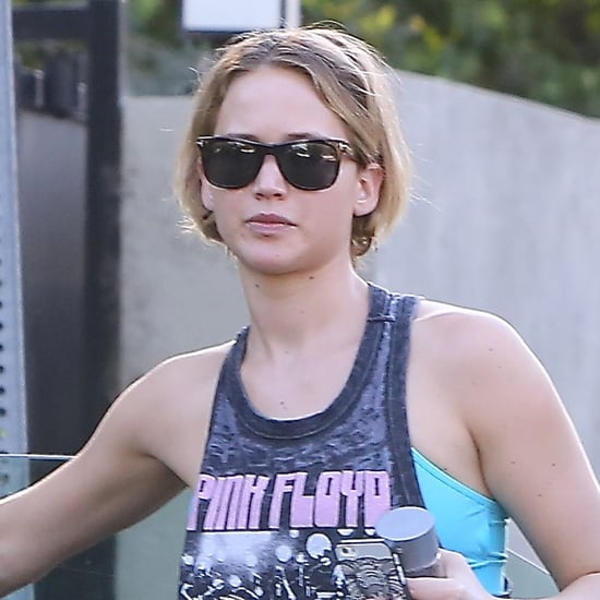 Jennifer Lawrence in a Pink Floyd T-Shirt   Pictures