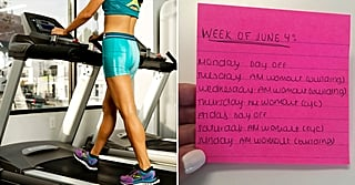 This Post-It Hack Is the Key to Sticking to Your Weekly Workout Plan, and It's So Simple