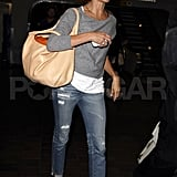 Cameron Diaz leaves Atlanta.