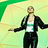 """Selena Gomez Wearing a Patent Leather Set in the """"Look at Her Now"""" Music Video"""