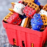 Red White and Blue Pretzel Bites
