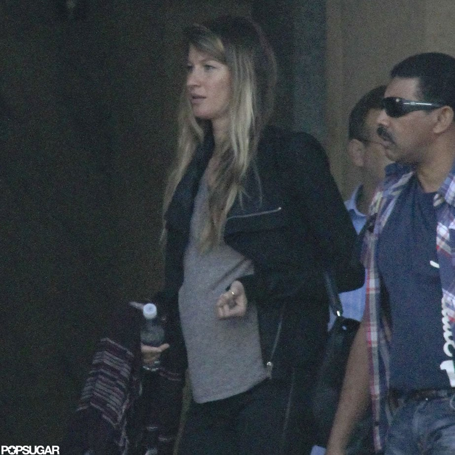 Gisele Bundchen's baby bump showed while she was out in Brazil.