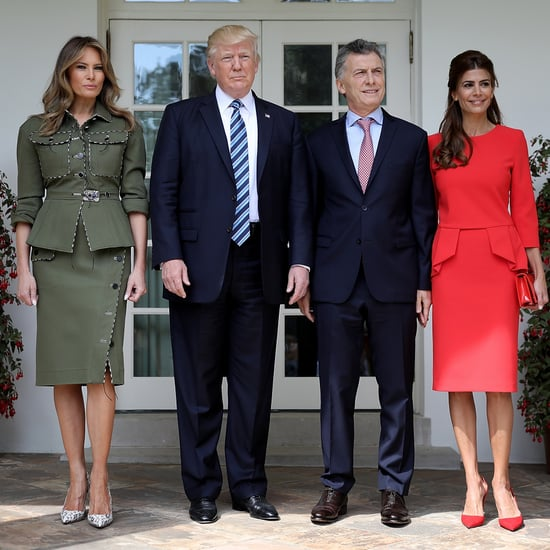 Melania Trump Wears Safari Suit April 2017