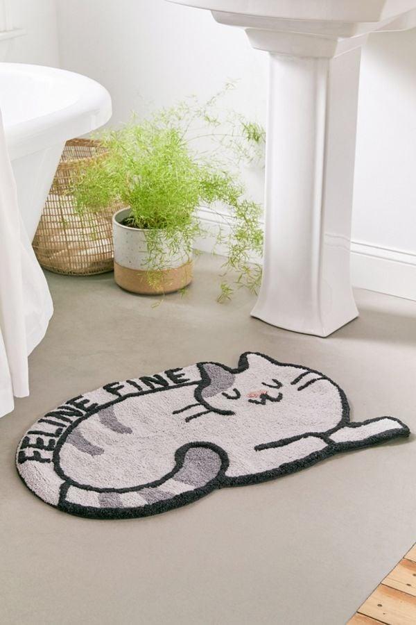 Feline Fine Bath Mat