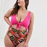 ASOS Tie-Front Swimsuit