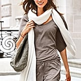 We love our scarves in all different sizes, but come Fall, it's all about the oversize, exaggerated wrap scarf. This one — in a cool ivory tone — from Victoria's Secret ($50) covers all the bases.