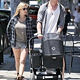 Chris Hemsworth and Elsa Pataky Share the LA Sunshine With Baby India