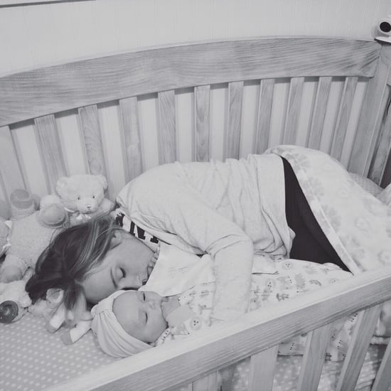 Viral Photo of a Mother Sleeping in Her Daughter's Crib