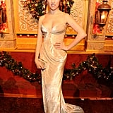 Anna Kendrick glowed with the light of the holidays in a velvet J. Mendel gown at TNT Christmas in Washington.