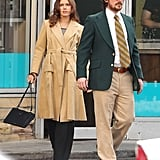 Amy Adams and Christian Bale filmed a scene for David O. Russell's untitled film in Natick, MA, on Thursday.