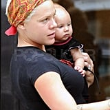 Pink and baby Willow out in NYC.