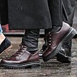 Jennifer Aniston Maroon Boots December 2018