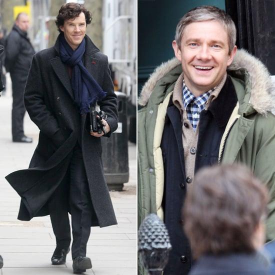 Sherlock Season 3 Filming Pictures