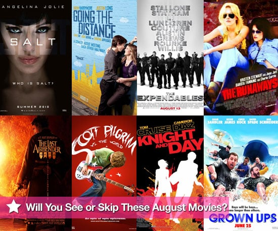 Movies Films Released at UK Cinemas in August 2010 Including The Runaways and Salt
