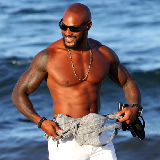 Tyson Beckford Shirtless on the Beach in Ibiza August 2016