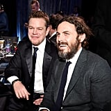 Pictured: Matt Damon and Casey Affleck