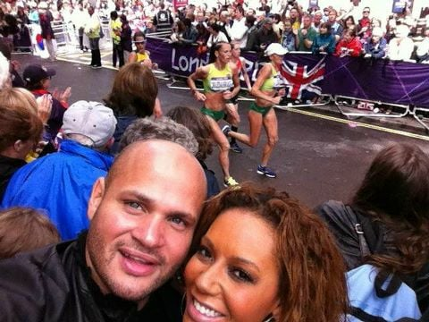 Mel B captured a photo during the women's marathon. Source: Twitter user OfficialMelB