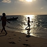 """Finn Burns enjoyed the """"golden hour"""" while on Spring break at the beach. Source: Instagram user cturlington"""