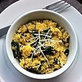 Quinoa Egg Spinach Scramble