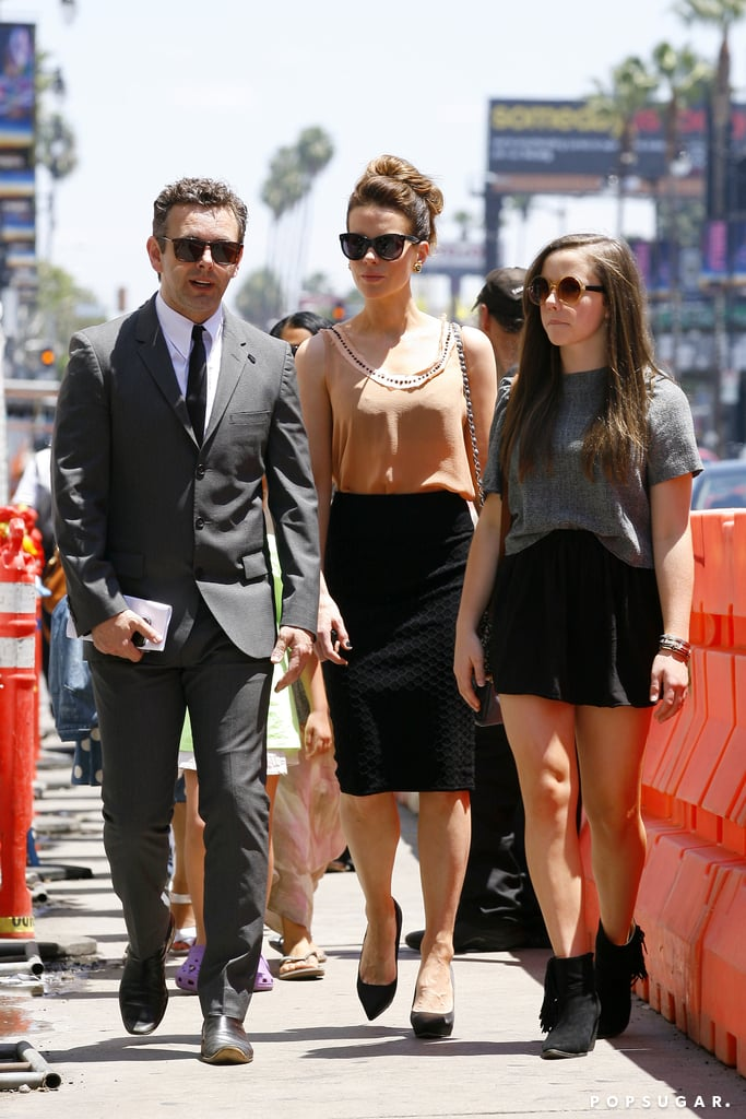 4369751656a769 Kate Beckinsale watched the Beatles tribute show with her daughter, Lily Mo  Sheen, and