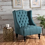 Tall Wingback Tufted Velvet Accent Chair