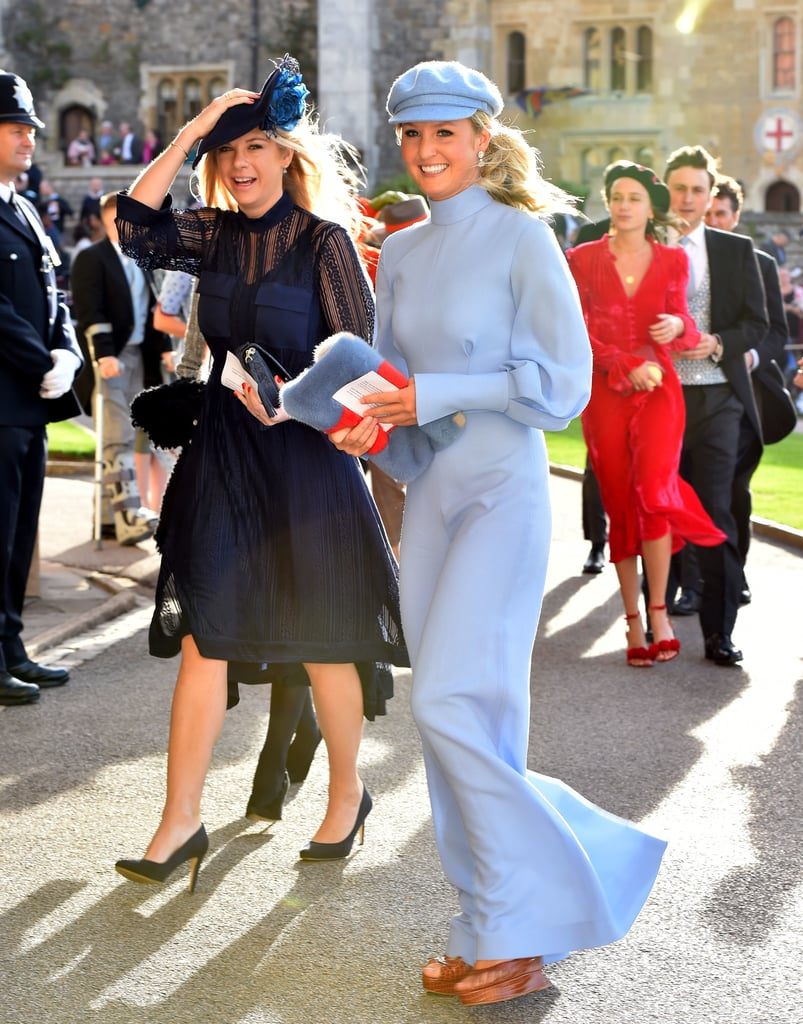 Chelsy Davy and Cressida Bonas at Princess Eugenie's Wedding