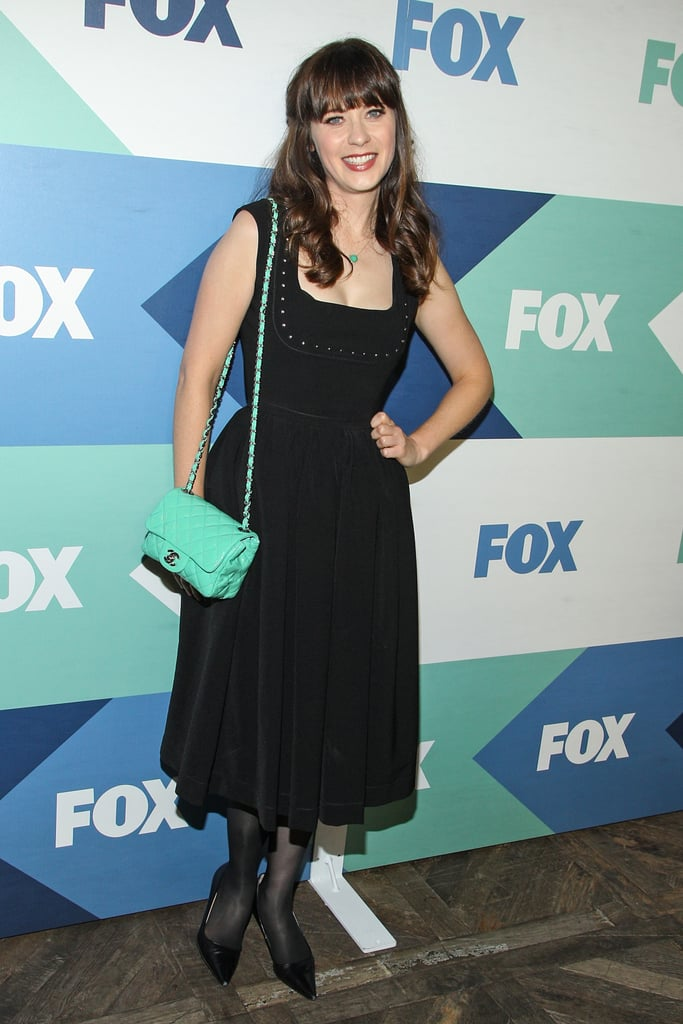 Zooey Deschanel attended a soiree hosted by Fox at the Summer TCA Press Tour in LA.