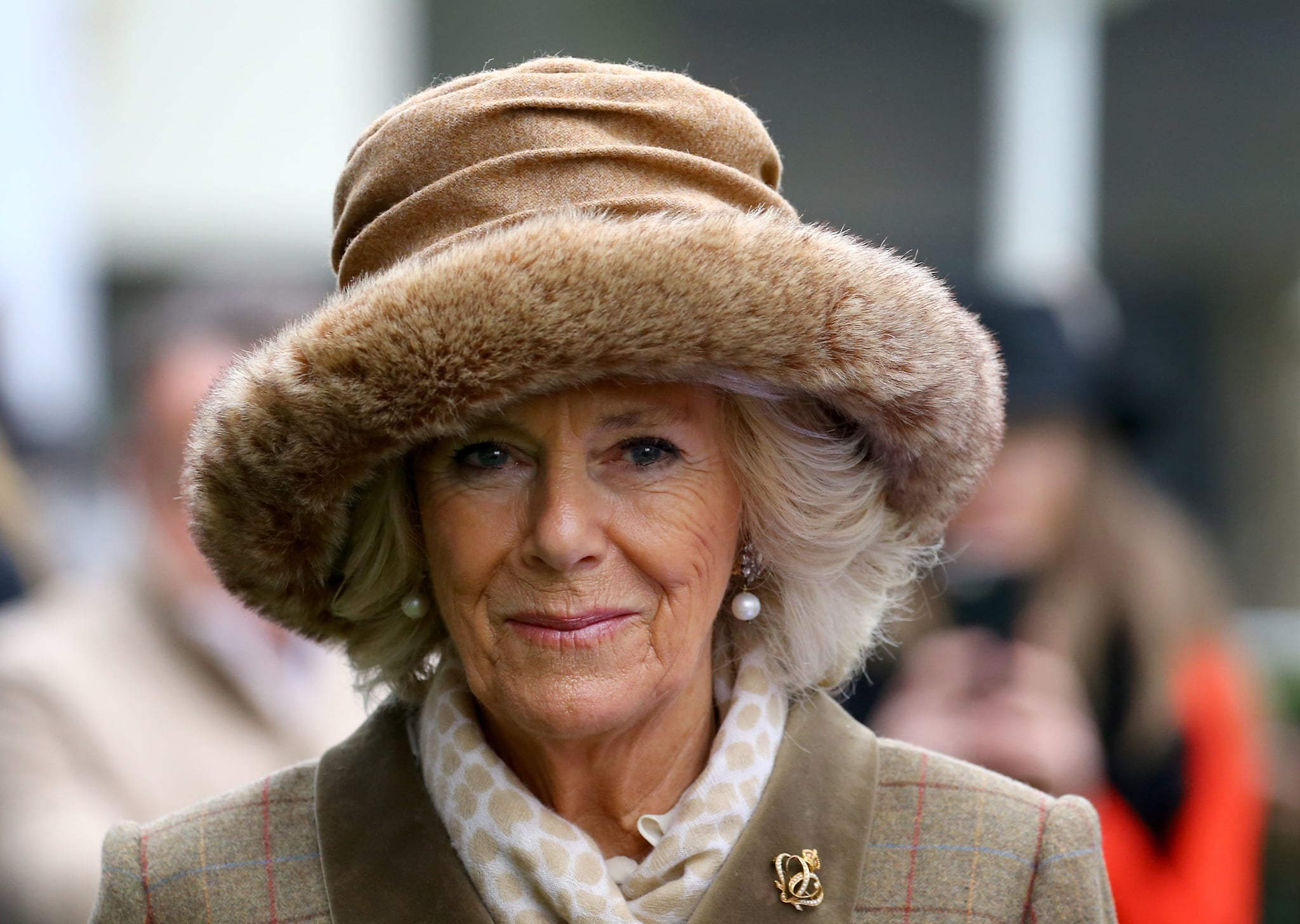 ASCOT, ENGLAND - NOVEMBER 23:   Camilla, Duchess of Cornwall attends The Prince's Countryside Fund Raceday at Ascot Racecourse on November 23, 2018 in Ascot, England. (Photo by Gareth Fuller - WPA Pool/Getty Images)