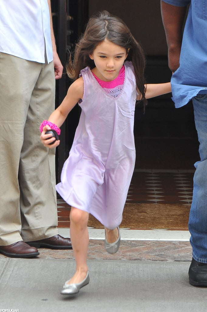 Suri Cruise was on the move in NYC.