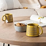 2pk Textured Mug Set in Yellow