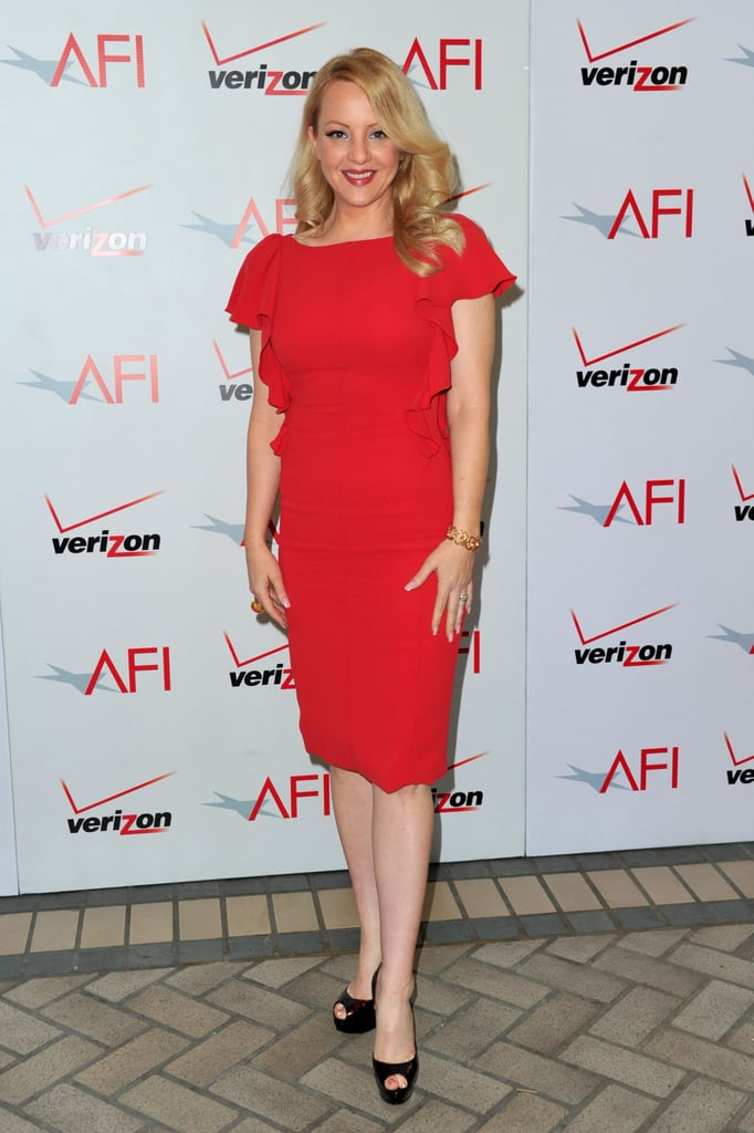 Wendi Mclendon Covey Attends The Afi Awards In A Red Dress George