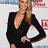 Swept to one side, we love how Jen's low-maintenance locks work back perfectly with her plunging neckline for the 2015 Logie Awards.