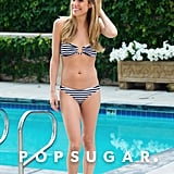 Kristin Cavallari hit the pool in LA back in June.