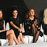 Victoria Beckham judged the Woolmark Prize with Diane von Fustenberg, Donatella Versace, and Natalia Massenet on Saturday evening.