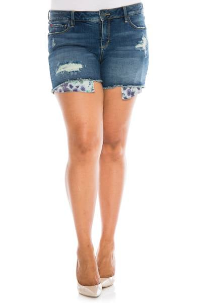Slink Jeans Exposed Pocket Denim Shorts