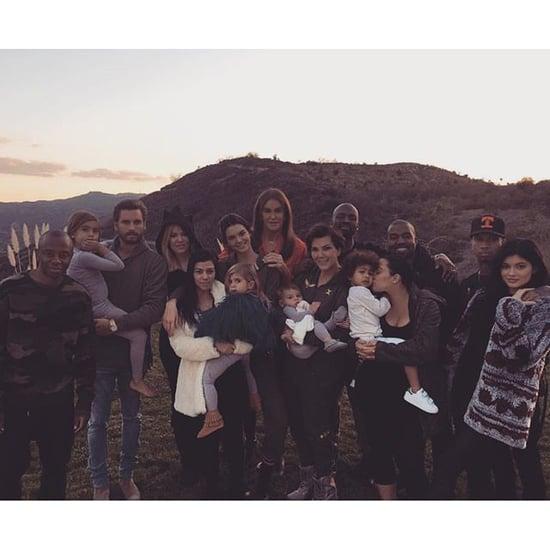 Kardashian-Jenner Family Thanksgiving Picture 2015