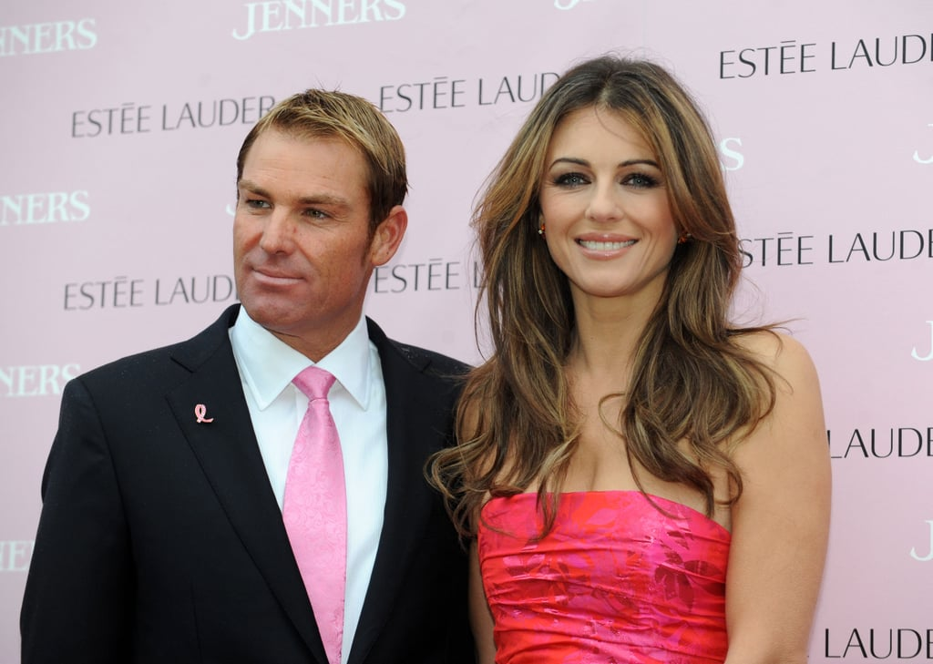 Shane Warne and Elizabeth Hurley at Jenners