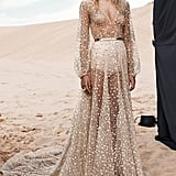 CHOSEN by One Day Nala Gold Mirrored Tulle Gown
