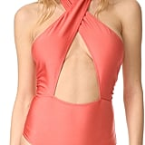 MinkPink Just Peachy Ruched One-Piece