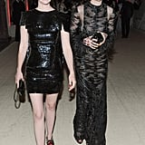 January Jones and Anne Hathaway made a punky dinner entrance at the Met Gala.  Source: Billy Farrell/BFANYC.com
