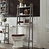 Over-the-Toilet Space Saver With Tiered Ladder Shelves
