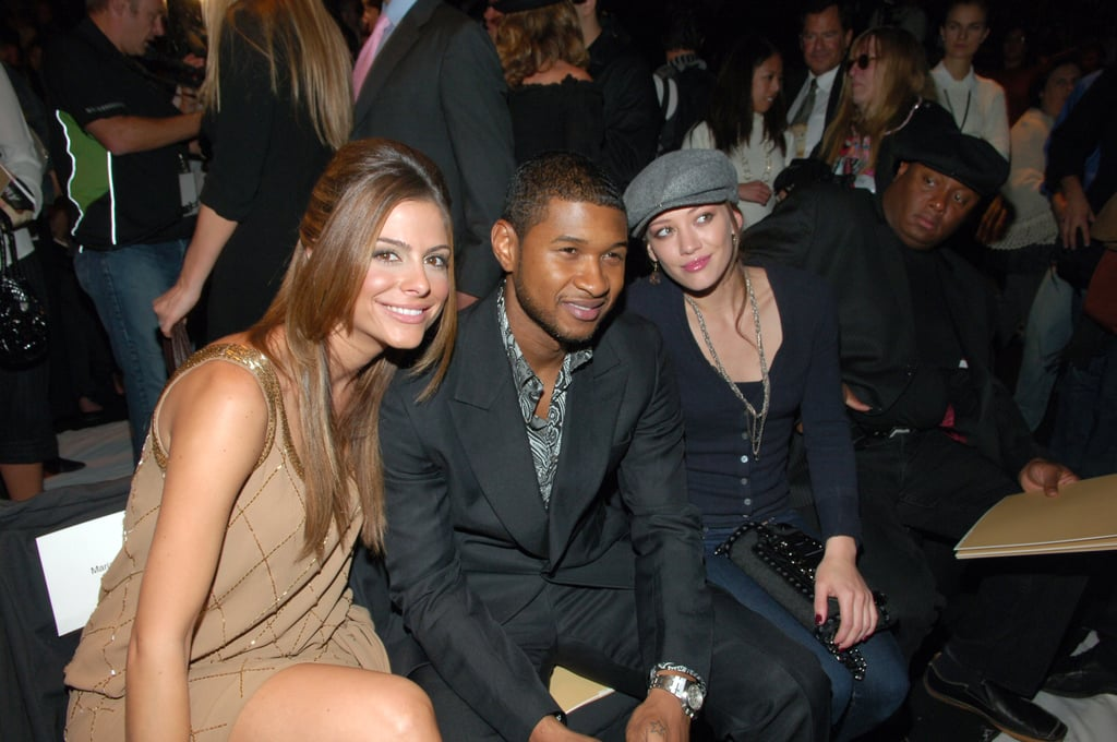 Maria Menounos, Usher, and Hilary Duff smiled at Michael Kors in February 2007.