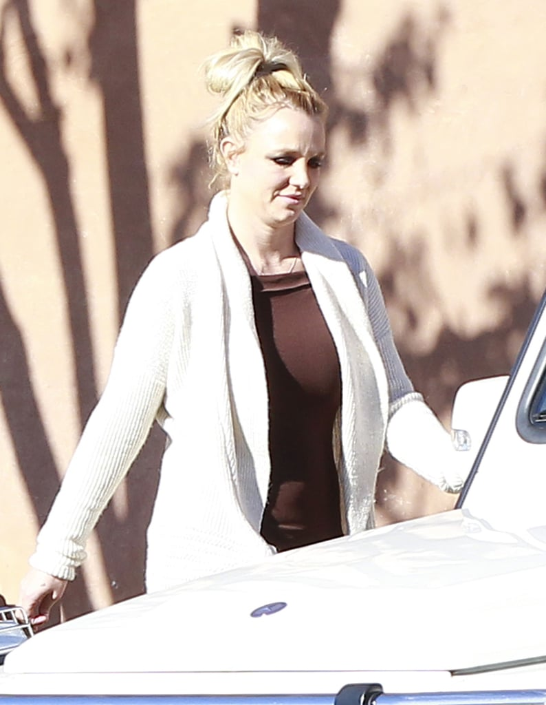 Britney Spears enjoyed a casual afternoon in LA today with her boys Jason Trawick, Sean Preston, and Jayden James. The foursome grabbed lunch at Claim Jumper before piling into her white Mercedes SUV — with multiple bodyguards — and headed off to their next destination.  Britney's been quiet on her social-media accounts in recent days while new rumors are swirling that she could be out from The X Factor. New reports suggest Britney will be fired from The X Factor for multiple reasons, mainly her $15 million contract. Ratings fell short in the show's second season, despite the addition of new judges Britney and Demi Lovato. Thus far, however, there has been no word from Britney, the show, or Simon Cowell confirming her departure. Still, the pop princess's return to TV was just one of the reasons Britney ruled 2012, and we can't wait to see what the next 12 months have in store.