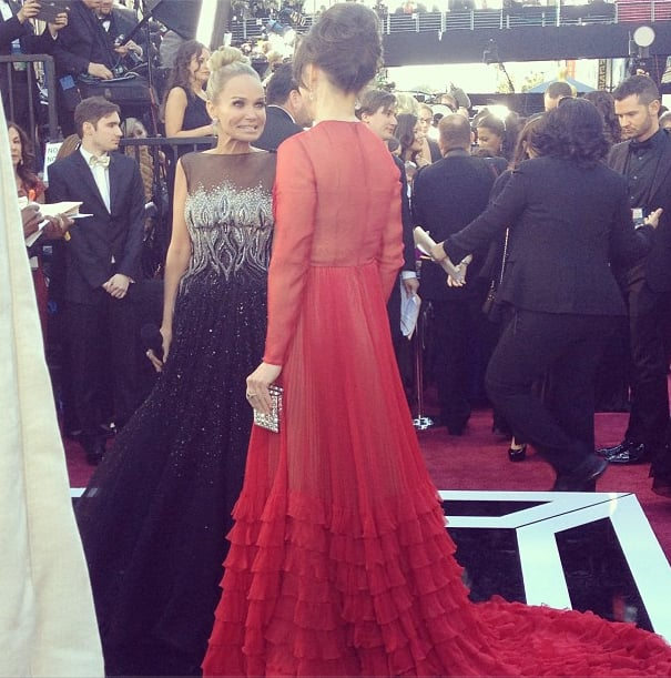 Sally Field shared a moment with Kristin Chenoweth, and it was a battle of red versus black. Source: Instagram user theacademy