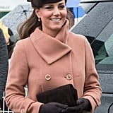 The Emmy 'Natasha' in chocolate brown at The Cheltenham Festival in London.