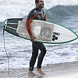 Brody Jenner hit the beach in Malibu, CA, on Monday for some surfing.