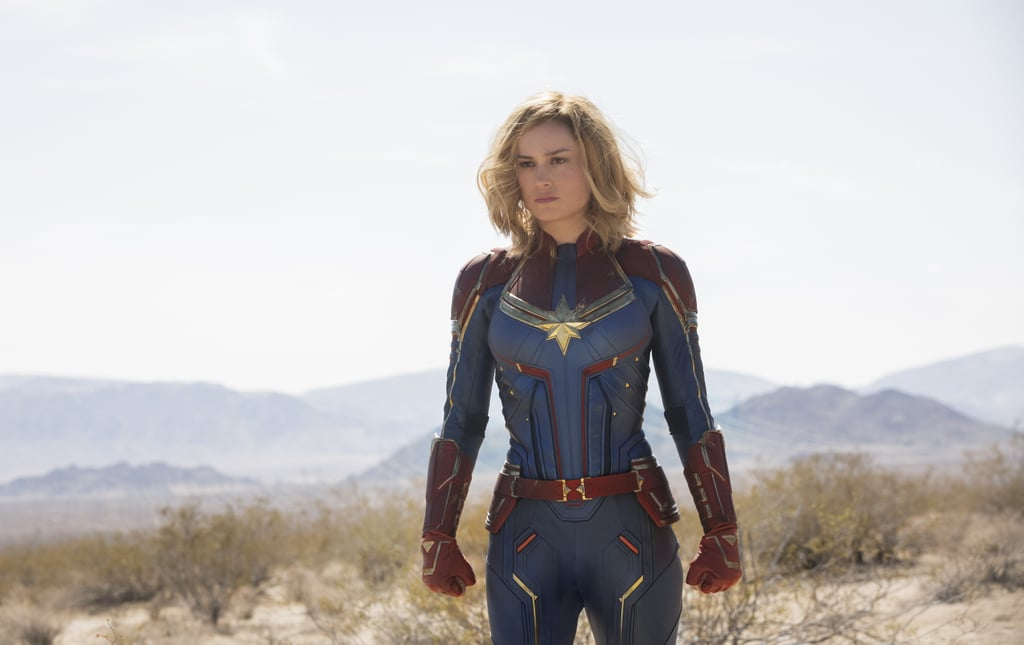 After what's felt like an eternity, we finally have a solid glimpse of Marvel's first female-led superhero film, Captain Marvel. The news that Brie Larson would be embodying the iconic role of Carol Danvers (aka Captain Marvel) was announced at Comic-Con way back in 2016, and over the past two years, quite a few details have trickled out. We know who the villain will be (Rogue One's Ben Mendelsohn), that some familiar faces are set to return (a very young Nick Fury and Agent Phil Coulson, among others), and that Jude Law is playing Doctor Walter Lawson (aka Mar-Vell). And now, we have a ton of photos! Filming for Captain Marvel officially kicked off in March, which Marvel celebrated by sharing a behind-the-scenes photo of Larson posing on a fighter jet while wearing a flight suit alongside Brigadier General Jeannie Leavitt, whom she met while on a trip to Nellis Air Force Base in Nevada to research the Carol Danvers character. Since then, the studio has released stills from the film that show Captain Marvel in all her red and blue glory, as well as shots of some sinister aliens and Carol Danvers' closest allies. All in all, it looks like the film is shaping up to be something pretty incredible (especially now that we've seen the kickass trailer). Keep scrolling to see more photos from Captain Marvel!      Related:                                                                                                           Why Is Captain Marvel So Important to the Avengers? Here's What She Does