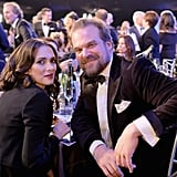 Winona Ryder and David Harbour at the 2018 SAG Awards