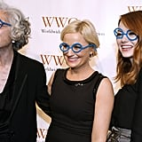 Amy Poehler, Jane Aronson, and Emma Stone had a good laugh together.