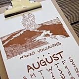 Letterpress National Park Calendar ($28)